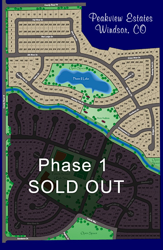 Peakview Estates subdivision plans