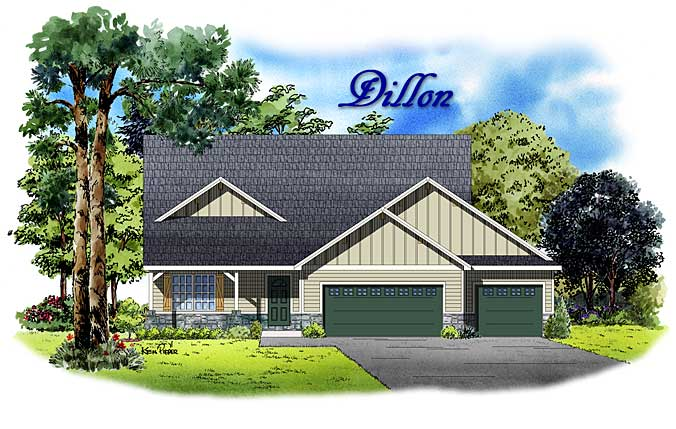 Dillon 3 bedroom model home