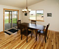Dining room with hickory flooring